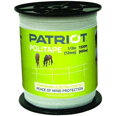 Patriot Politape 1320 Ft Roll 12 Electric Fence Wire Horse Poly Tape