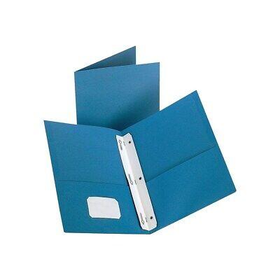 Staples 2-pocket Folder With Fasteners Light Blue 907784