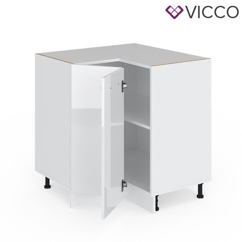 VICCO Küchenschrank Hängeschrank Unterschrank Küchenzeile R-Line Eckunterschrank 87 cm weiß
