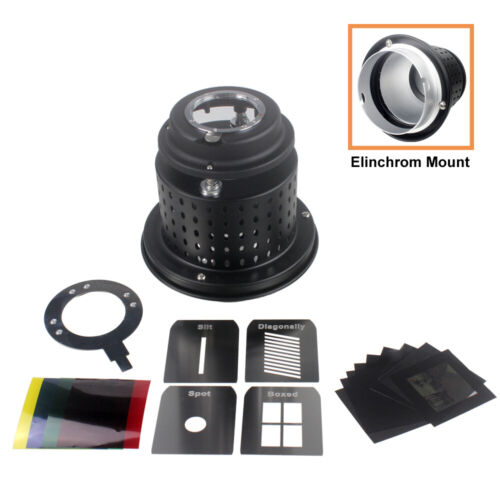 Focalized Optical Snoot Elinchrom Mount Lighting Effects for Stuido Photography