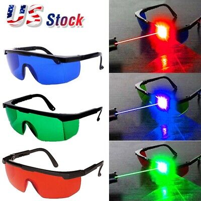 Red Blue Green Eye Protective Goggles Laser Safety Glasses For Various Lasers