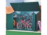 Asgard lockable & secure steel bike store (4 bikes) - Used & currently dismantled