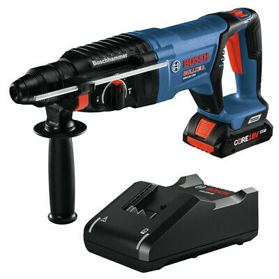 Bosch Gbh18v-26dk15 18v Ec Bl Sds-plus Bulldog Rotary Hammer Kit New