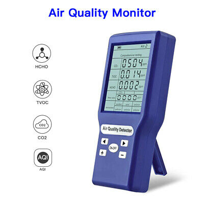 Lcd Display Air Quality Monitor Hcho Formaldehyde Co2 Detector Analyzer For Car