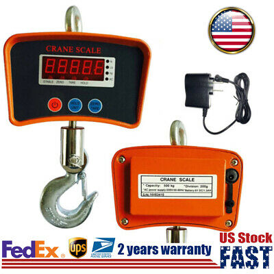 Digital Crane Hanging Scale Lcd 500kg1100lbs Heavy Duty Industrial Scale Stock