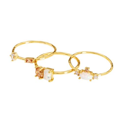 Gorjana Hudson Ring Set Set Of 3 In Gold Size 7 18103047196G
