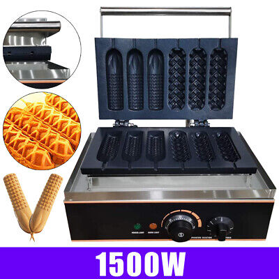 Stainless Steel Hot Dog Sausage Maker For Waffles Paninis 110v Household 1500w