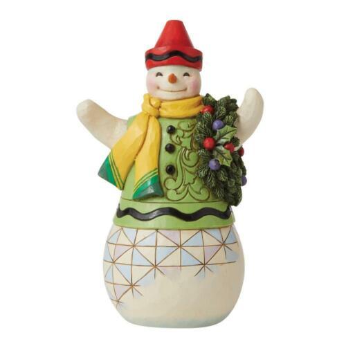 Jim Shore CRAYOLA SNOWMAN FIGURINE 6009134 Color Me Merry NEW 2021