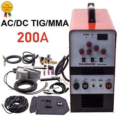 Aluminum Inverter Welder TIG 200 Amp AC / DC Welder IGBT Pulse...