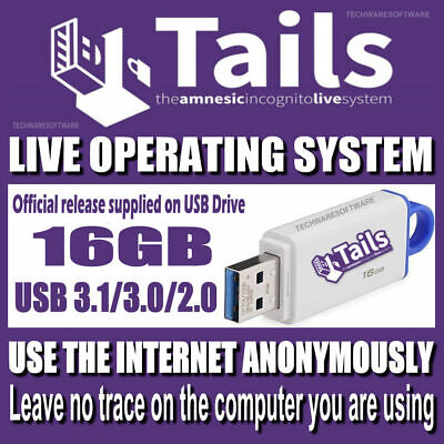 TAILS - Privacy Online - Anonymous Internet Browsing - Use on any PC - 16GB USB 16 Gb Privacy Usb