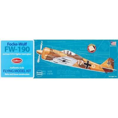 Guillows Balsa Wood - FOCKE-WULF FW-190 WWII German Fighter Rubber Balsa Wood Plane GUILLOWS model 502