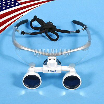 Hot Dental Surgical Binocular Magnifier Loupesglasses 3.5x 420mm Silver Kvma