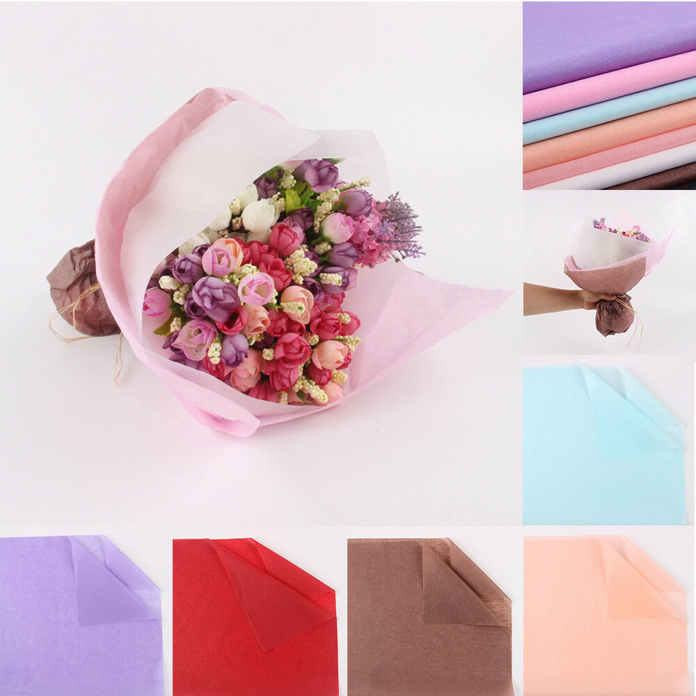 Details About 50pcdiy Wrapping Paper Translucent Flower Bouquet Craft Paper Gift Party Supply
