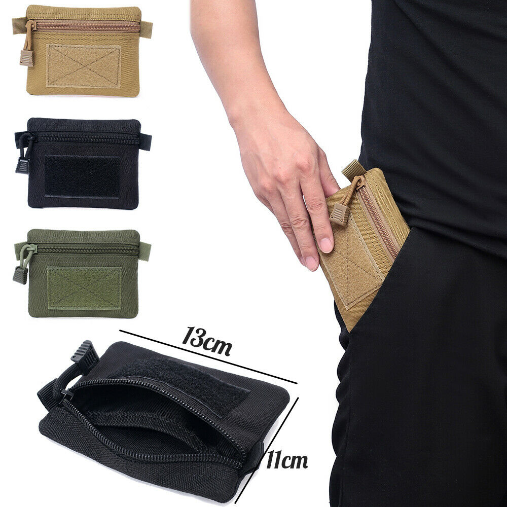 Tactical Wallet EDC Gear Coin Purse Key Card Holder Utility Pocket Pouch Bags Hunting