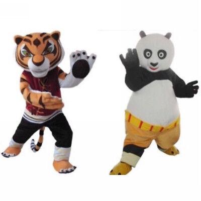 Kung Fu Panda Costumes (Fancytrader Cartoon Tiger Kung Fu Panda Mascot Costume Tigress Fancy Dress)