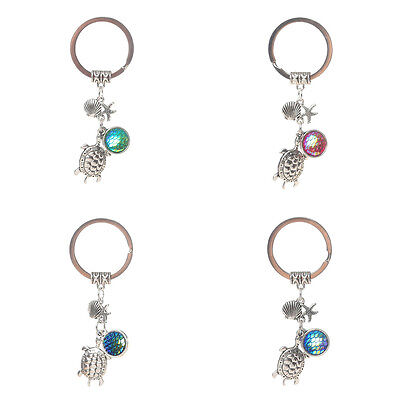 - Tortoise Seashell starfish Model Keychain Key Chain Ring Charm Bag Women Keyring