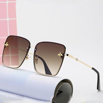 2020 Gold Bee Oversized Square Sunglasses Women Fashion Gradient Shades Eyewear (Gold Bee Sunglasses)
