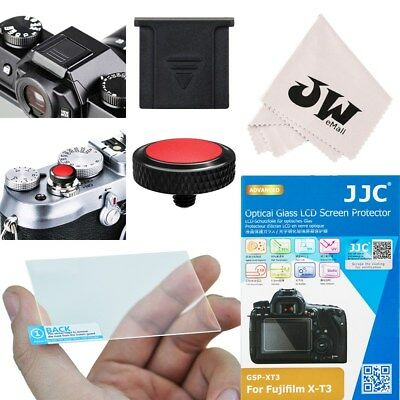 4in1 Kit Glass Screen Protector+Shutter Release Button for Fujifilm X-T3 XT3 Shutter Release Kit