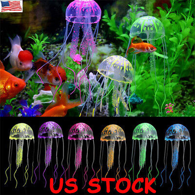 lowing Effect Aquarium FLOATING JELLYFISH Jelly Fish Tank Ornaments Decorations