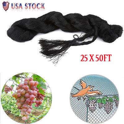 25'x50'  Anti Bird Bird-Preventing Net Netting Mesh For Fruit Crop Plant Garden