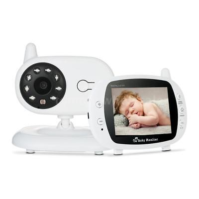 "3.5"" Wireless TFT LCD Audio Video Baby Monitor Night Vision Camera 2-Way Talk"