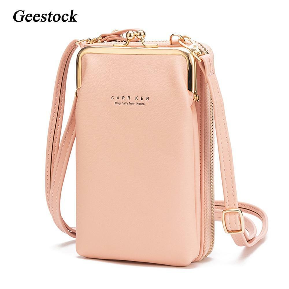 Women PU Leather Mini Mobile Phone Pouch Cross Body Purse Shoulder Bag Wallet SH