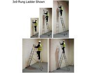 Brand New Skymaster Combination Ladder 3x12 Rungs