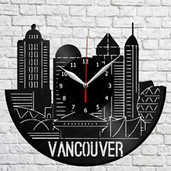 Vancouver Skyline Vinyl Record Wall Clock Home Fan Art Decor 12'' 30cm 6838