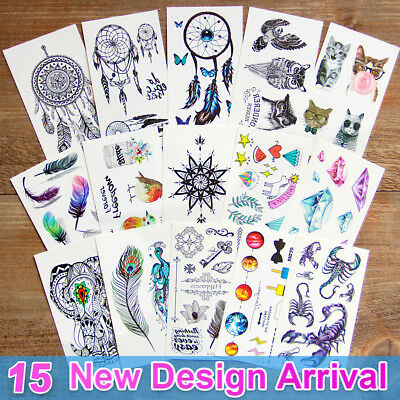 Temporary Tatoos For Kids (3d Temporary Tattoos for Men Women Kids Floral Tribal Tattoo Stickers Fake)