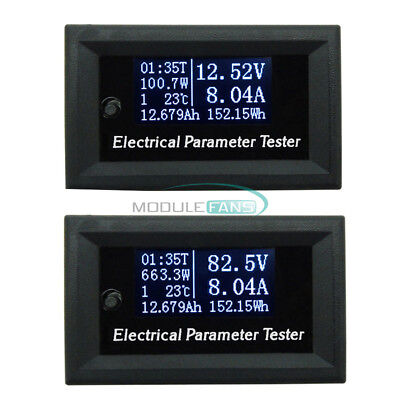 7in1 Oled Tester Voltage Current Time Temperature Capacity Voltmeter Ammeter 10a