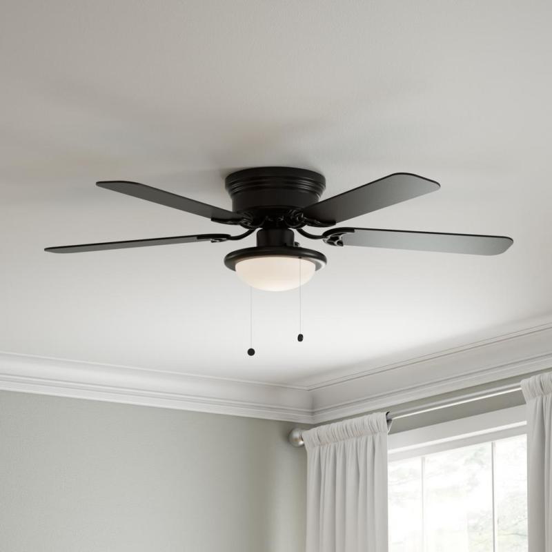 hugger indoor ceiling fan 52 inch flush