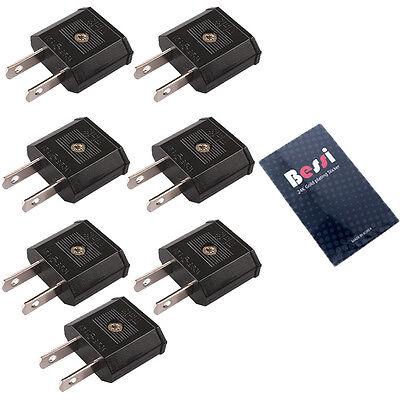 (220V to 110V) 7pcs 110V plug adapter EU to USA/ travel adapter/ converter/korea