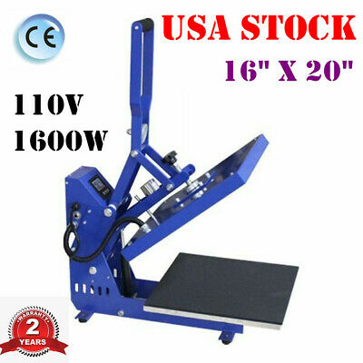 Horizontal Version 16 X 20 Clamshell Auto Open Heat Press Machine Usa Stock