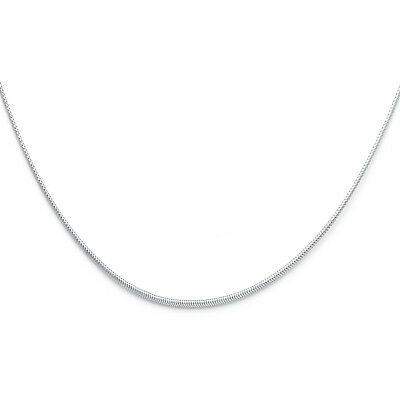 Real 14k White Gold 1MM Sparkle Omega Necklace Chain 17