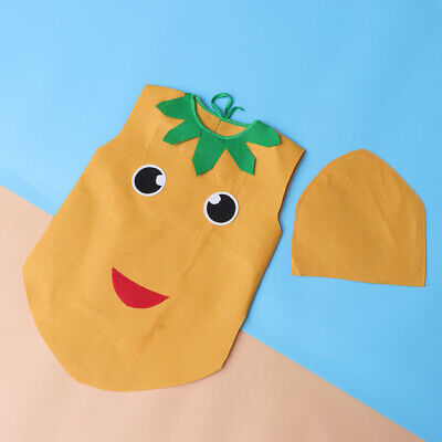 Fruit Costume For Kids (1 Set Kids Costume Kit Fruit and Vegetable Potato Clothes and Hat Set for)