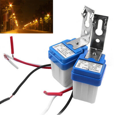 2pcs Dc As-10 12v Auto On Off Street Photocell Light Switch Photo Control Sensor