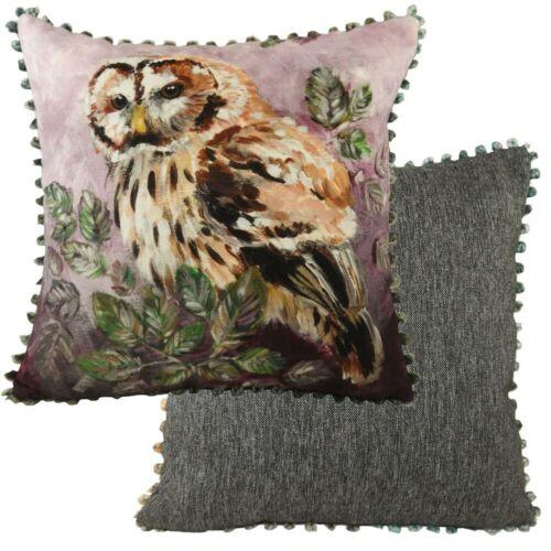 Evans+Lichfield+Dartmoor+Collection+Bobble+Trim+Cushion+Cover%3A+Owl+17x17%22