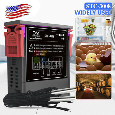 Stc-3008 Ac 110-220v Dual Display Digital Thermostat Temperature Controller