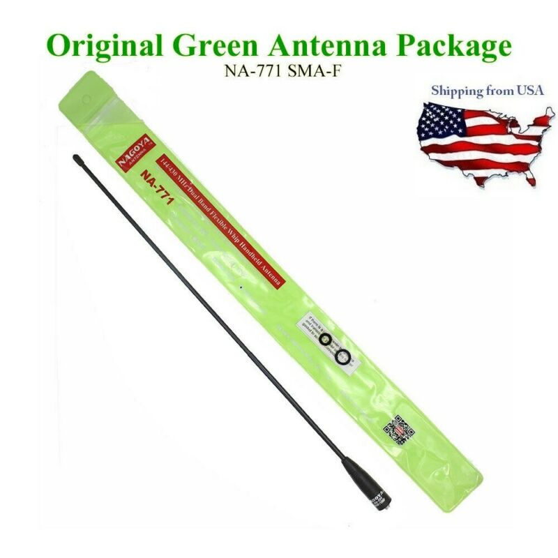 Original NAGOYA Dual band antenna NA-771 SMA-F fit for UV-5R UV-82 Walkie Talkie