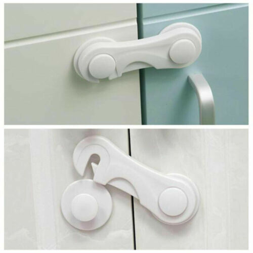 5x White Child  Locks cabinet,Cupboard Door Drawer Lock for Baby Safety From UK