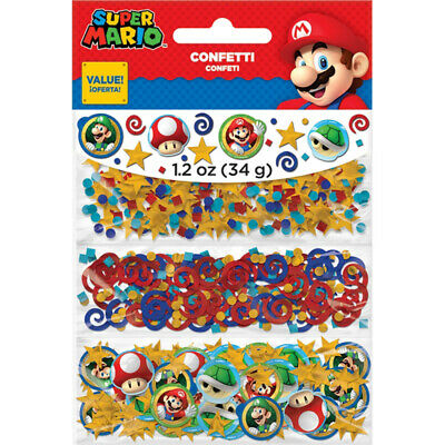 ends Tischkonfetti Kinder Party Supplys Tischdekoration (Mario Bros Party Dekorationen)