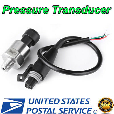 18 Npt Stainless Steel Pressure Transducer Sender Sensor For Oil Fuel Air Water