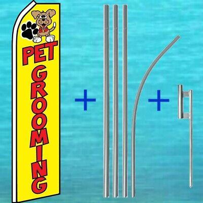 Pet Grooming Flutter Flag Pole Mount Kit Advertising Feather Swooper Banner