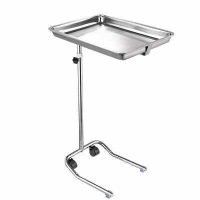 Steel Mayo Instrument Stand Height Adjustable Tattoo Hospital Home Spa Equipment