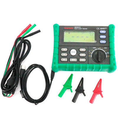 Circuit Breaker Rcd Loop Tester Meter Trip-out Time Current V Freq Usb Ms5910