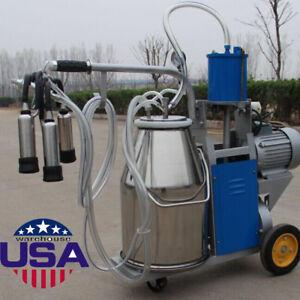 【USA】COW Milker Electric Milking Machine For Cows Farm Portable Wheels