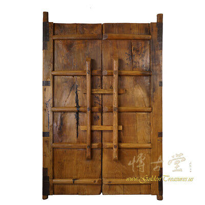 Купить Chinese Antique Massive Court Yard Doors Panels Pair 27P01-1