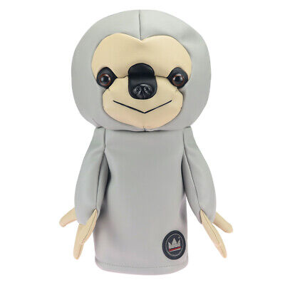 Animal Golf Driver Head Covers Sloth Animals 460cc Headcover Grey Leather -