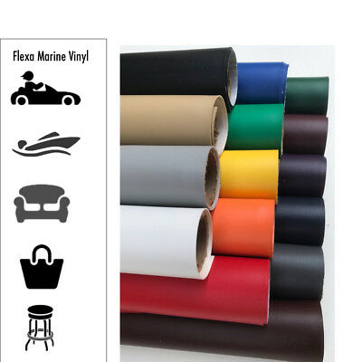 "Marine Vinyl Fabric - 54"" Boat Auto Upholstery (22+ Colors) 1,5,10,20,30 Yards"