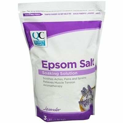 Quality Choice Epsom Salt Lavender Scent 3Lb Bag Each